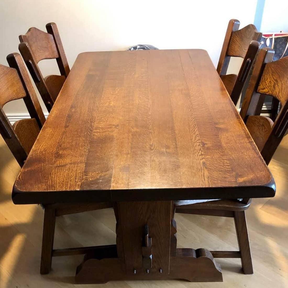 Mesa de jantar antes