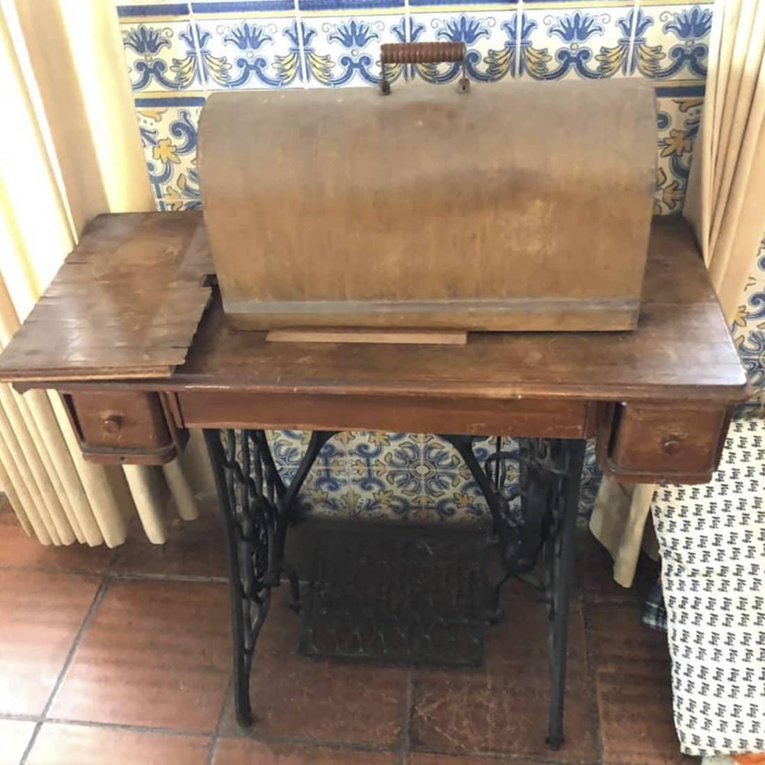 Mesa de costura antes